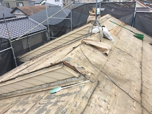 厚木市下荻野 アパート屋根葺き替え工事 (2)